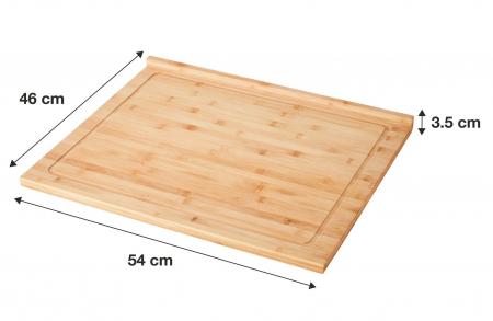 Planseta de lucru din bambus 54x46x3.5 cm [1]