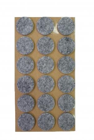 Protectie pasla autoadeziva pentru pardoseala, rotunda D 25 mm, gri, set 18 buc1