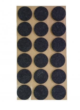 Protectie pasla autoadeziva pentru pardoseala, rotunda D 25 mm, neagra, set 18 buc [1]