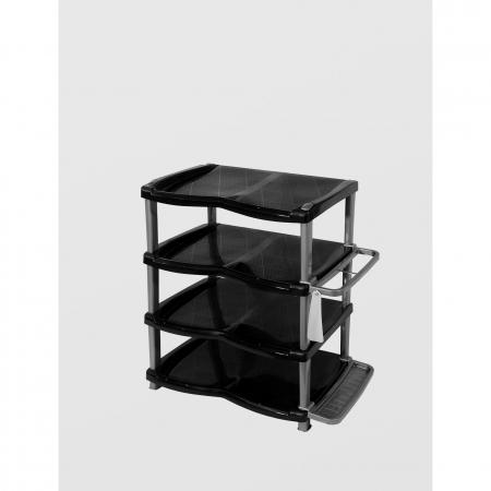 Raft/ suport pentru pantofi cu 4 etaje, negru/gri [1]