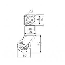 Rotila din silicon fara frana D=50 mm [1]