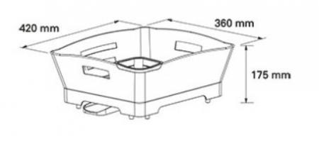 Scurgator de vase cu suport tacamuri detasabil, alb cu gri, Pelikan 315003