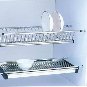 Scurgator din otel inoxidabil pentru vase montabil in dulap de bucatarie cu dimensiune de 400 mm0