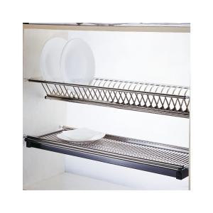 Scurgator din otel inoxidabil pentru vase montabil in dulap de bucatarie cu dimensiune de 700 mm2