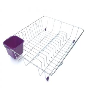 Scurgator vase cu suport pentru tacamuri violet1