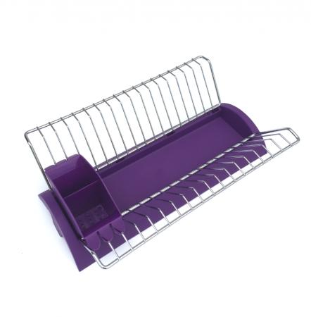 Scurgator vase cu suport tacamuri violet 41x26x12 cm0