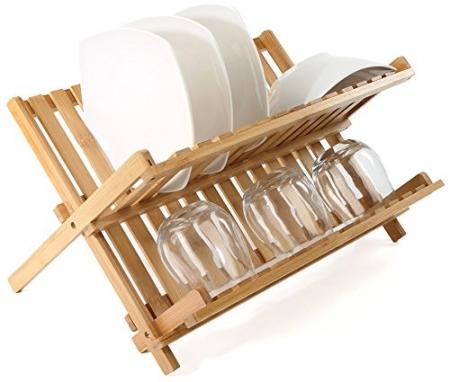 Scurgator vase din bambus, pliabil 42 x 27,5 x 38 cm3