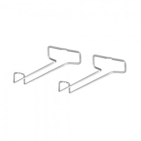 Set 2 suporturi pentru pahare gri 26x4x111