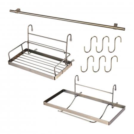 Set suporturi pentru bucatarie cu bara inclusa, finisaj alama0