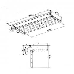 Suport cravate/esarfe extractibil MG-CT282