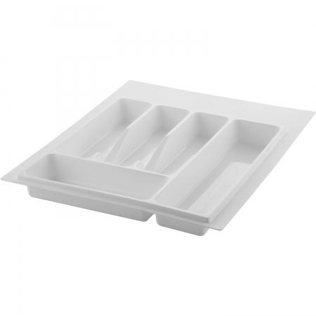 Suport organizare tacamuri, alb, pentru corp de 400 mm, montabil in sertar bucatarie0