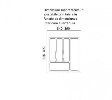 Suport organizare tacamuri, alb, pentru corp de 450 mm latime [1]