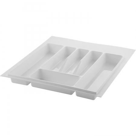 Suport organizare tacamuri, alb, pentru latime corp 500 mm, montabil in sertar bucatarie0