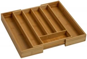 Suport organizare tacamuri, extensibil pe latime de la 282 mm la 445 mm, din bambus [2]