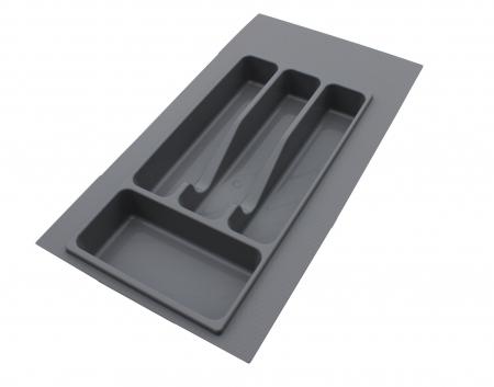 Suport organizare tacamuri, gri metalizat, pentru latime corp 350 mm, montabil in sertar bucatarie0