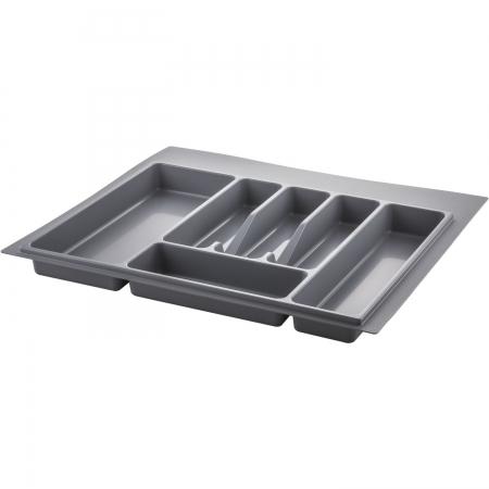 Suport organizare tacamuri, gri metalizat, pentru latime corp 600 mm , montabil in sertar bucatarie0