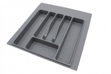 Suport organizare tacamuri, gri, pentru latime corp 500 mm, montabil in sertar bucatarie [0]