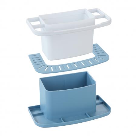 Suport organizator pentru chiuveta, albastru1