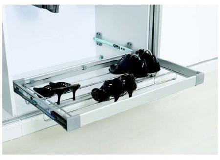 Suport pantofi extensibil tip sertar cu amortizare S6261G pentru corp dressing cu latime de 600 mm, finisaj Crom/Aluminiu0