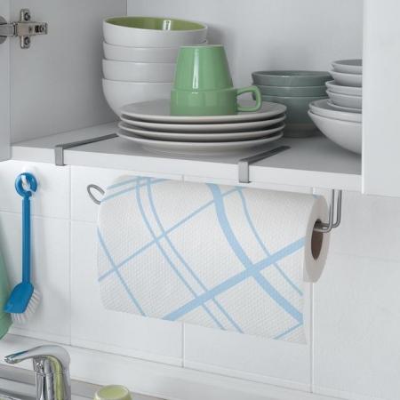 Suport rola de bucatarie Easy Roll, pentru usa de dulap sau etajera, gri [1]