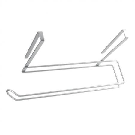 Suport rola de bucatarie Easy Roll, pentru usa de dulap sau etajera, gri [2]