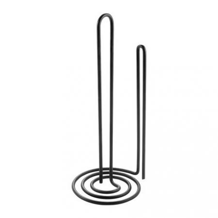 Suport rola sau prosop hartie pentru bucatarie , vertical, negru2