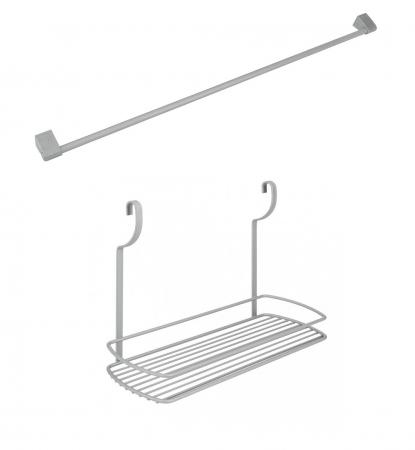 Suport suspendat cu bara suport inclusa pentru recipiente si accesorii bucatarie2