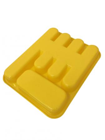 Suport tacamuri pentru sertar, galben1