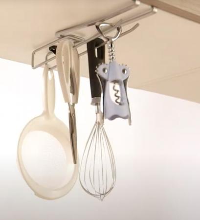 Suport universal pentru organizarea obiectelor de bucatarie, 8x25x3 cm3