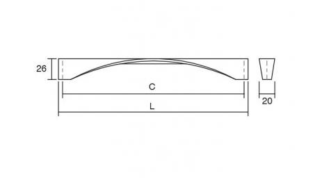 Maner pentru mobilier Twisted, finisaj crom lustruit, L:170 mm2