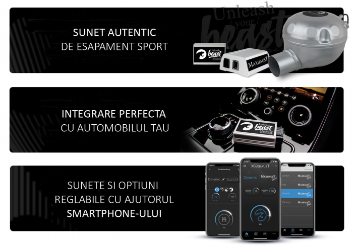 Sistem Maxhaust Active Sound Booster – Set complet universal 3