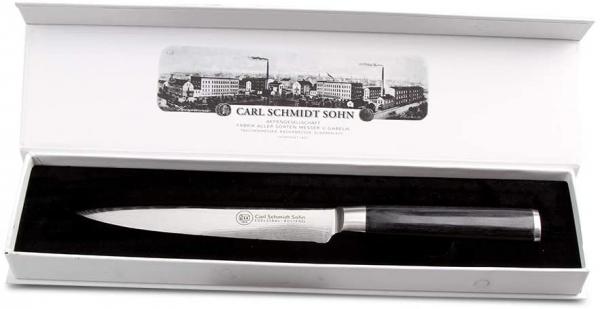 Cutit santoku otel Damask HRC 60 Konstanz, Carl Schmidt Sohn 071288, 18 cm, maner negru 3