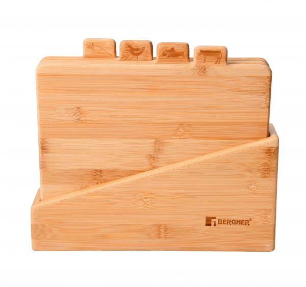 Set 5 piese tocatoare bambus natur Bergner BG-4940-MM 0