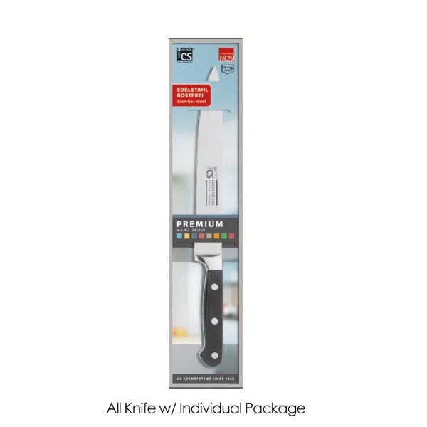 Cutit Premium, Carl Schmidt Sohn, 20 cm, maner negru, cutie cadou 003128 1