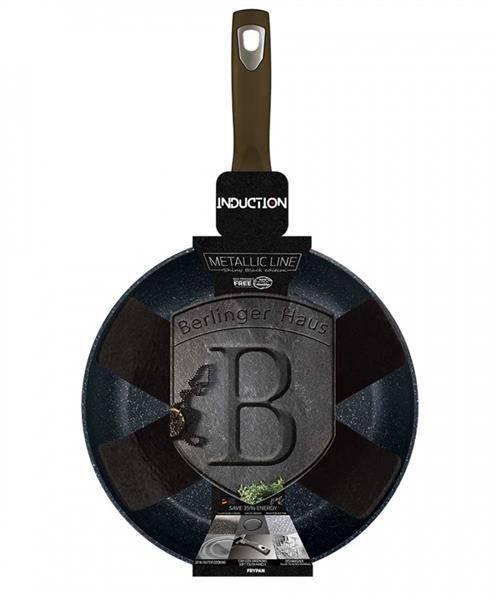 Tigaie marmorata 24 cm Shiny Black Berlinger Haus BH 6600 [0]