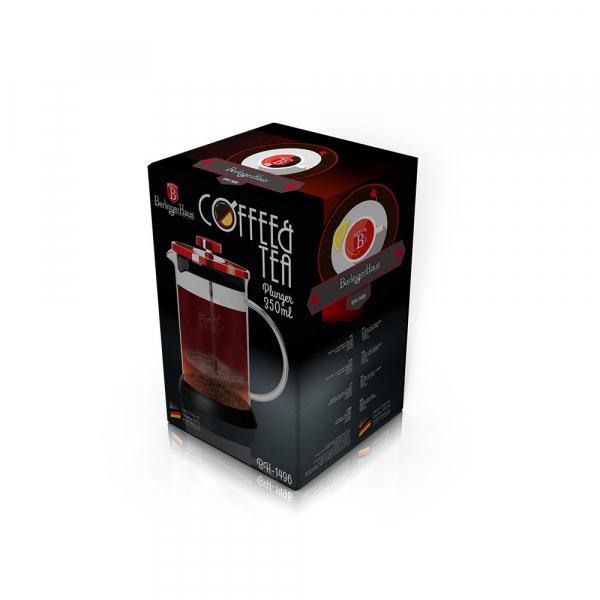 Presa Cafea & Ceai, 350 ml, Burgundy, Berlinger Haus BH 1496 1