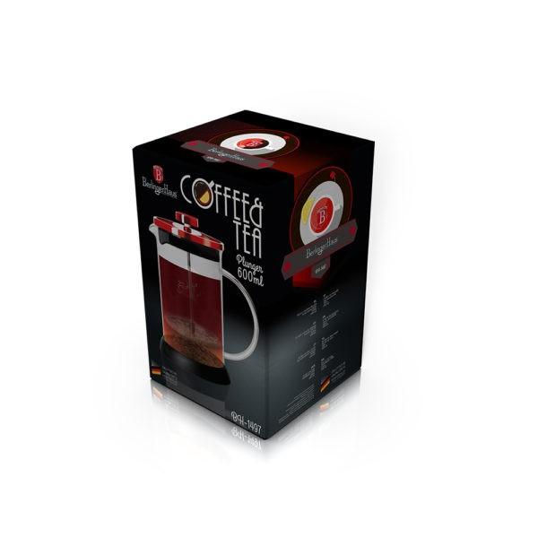 Presa Cafea & Ceai, 600 ml, Burgundy, Berlinger Haus BH 1497 1