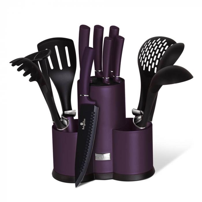 Set ustensile de bucatarie 12 piese Purple Eclipse Berlinger Haus BH 6258A [0]