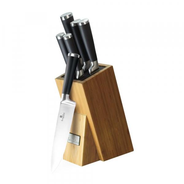 Set de cutite 6 piese, suport bambus, Berlinger Haus Black BH 2425 0