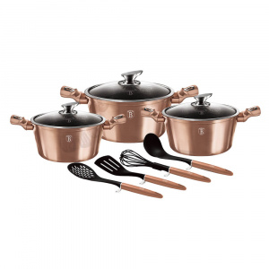 Set oale marmorate 10 piese, Rose Gold Berlinger Haus BH 6151 [0]