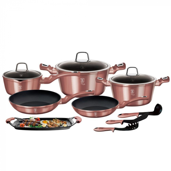 Set oale marmorate 12+2 piese I-Rose Berlinger Haus BH 6044 [0]