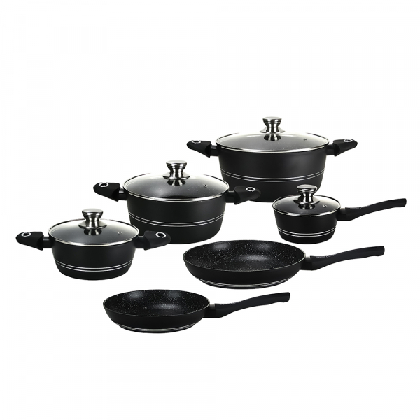 Set oale marmorate, Imperial Collection IM-ST10-CFM BLK, 10 piese, negru 0