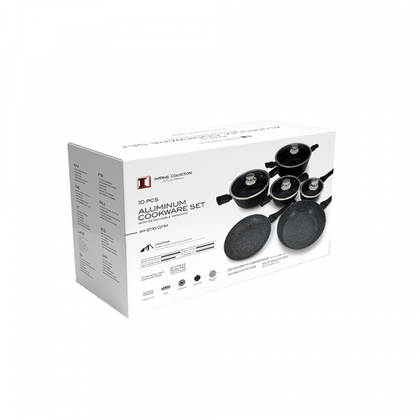 Set oale marmorate, Imperial Collection IM-ST10-DFM BLK, 10 piese, negru 1