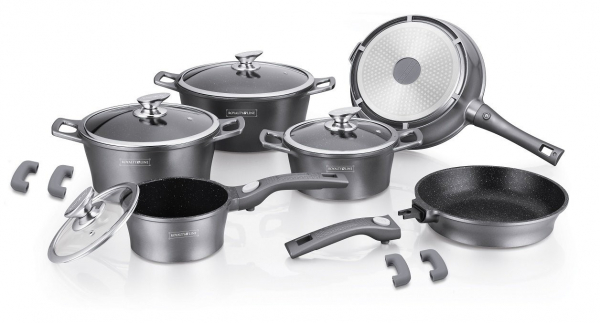 Set oale marmorate Royalty Line ES 2014M 14 piese - silver [0]