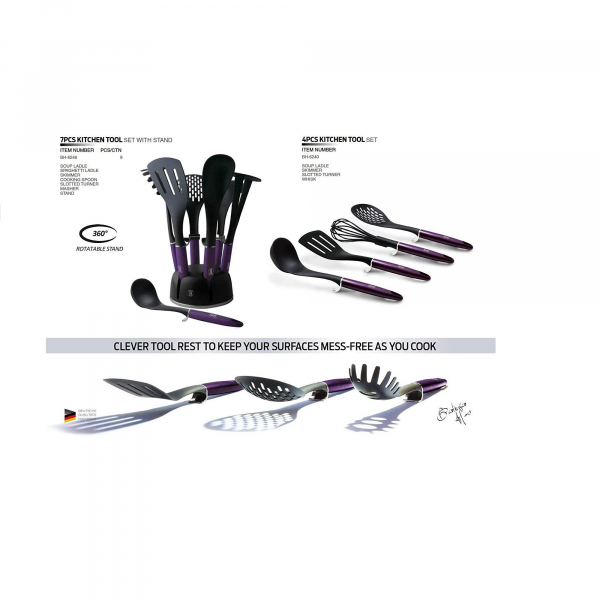 Set ustensile 7 piese Purple Edition Berlinger Haus BH 6246 1