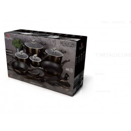 Set oale marmorate 18 piese Shiny Black Berlinger Haus BH 6614 [1]
