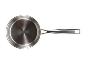 Oala inox-cupru pentru sos cu capac 18X9.0CM 2L Hammer Finish De Lux Bergner BGIC-36631
