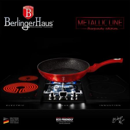 Tigaie marmorata 20 cm Burgundy Metalic Line Berlinger Haus BH 1251N5