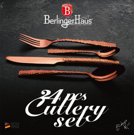 Set Tacamuri 24 piese Berlinger Haus Rose Gold lucios BH 26172