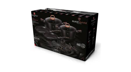 Set Oale marmorate 10 piese Black Rose Berlinger Haus BH 6149 [1]